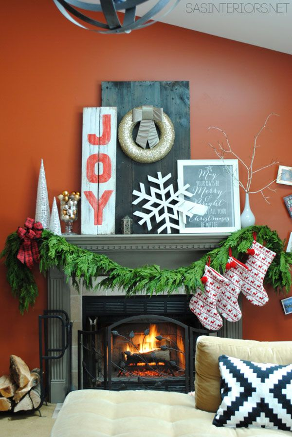 Christmas Decorated Living Rooms 80s: 136 Best Images About Mantle Decorating Ideas On Pinterest