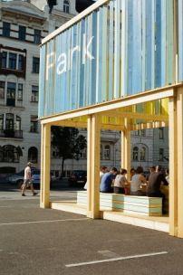 Rauminstallation am Wiener Naschmarkt / Park macht Platz - Architektur und Architekten - News / Meldungen / Nachrichten - BauNetz.de
