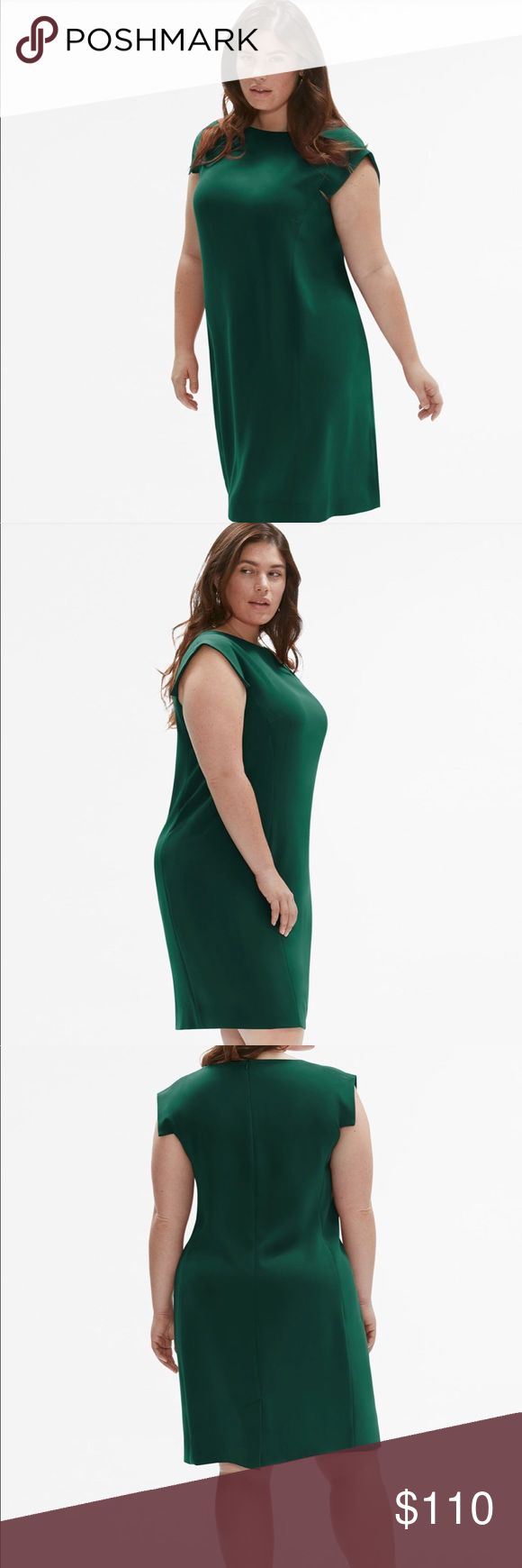 """MM LaFleur Sarah Dress Model is 5'9.5"""" and wearing a size +2, which fall approximately 40 1/2"""" from shoulder to hem.  72% Cellulose Acetate, 38% Polyester. Machine wash cold. No bleach. Low iron if needed. No tumble dry. Dry Cleanable. MM Lafleur Dresses Midi"""