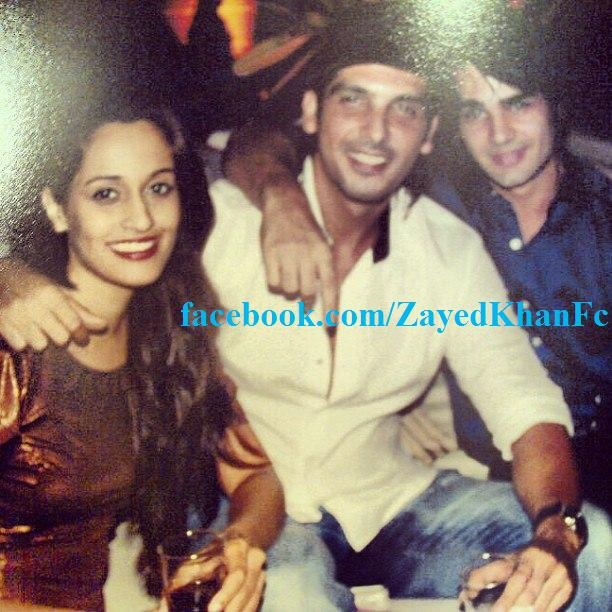 Zayed Khan with cousin brother Reza Khan at Farah Khan Ali's Party.