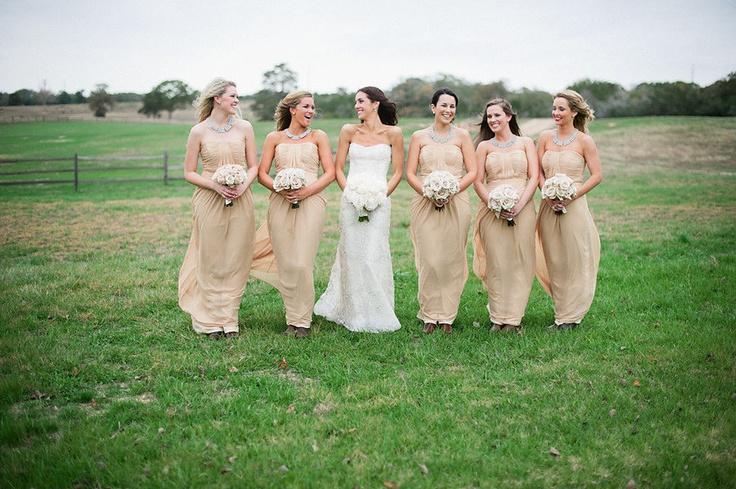bridesmaids: Wedding Dressses, Color Palettes, Wedding Photography, Bridesmaid 890663, Bridesmaid Gowns, Neutral Bridesmaid, Bridesmaid Dresses Color, Color Photography, Chunky Necklaces