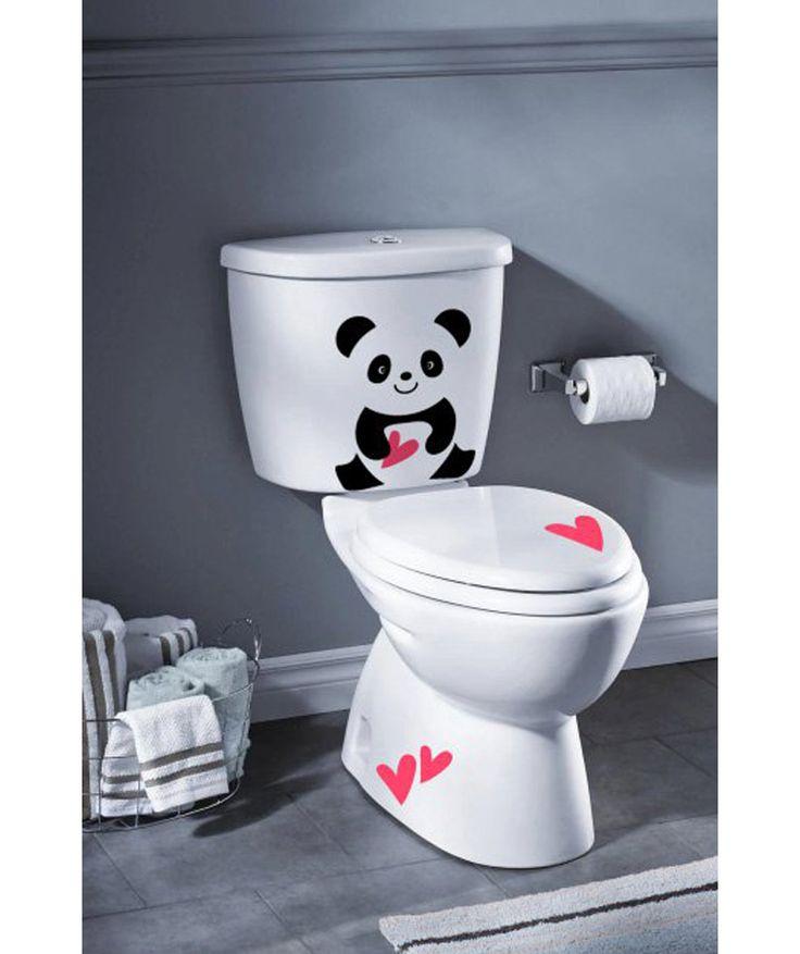 Panda corazones vinilo adhesivo decoraci n de ba os - Vinilos para banos ...