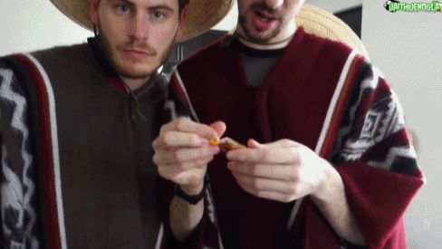 Terroriser and Daithi during their trying Mexican candy video. Gif from sapphysue on tumblr