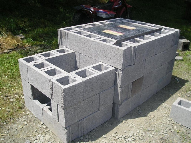 cement block grill: Backyard Idea, Gardens Idea, Cinderblock Smokers, Summer Party, Cinder Blocks, Cement Blocks, Blocks Smokers, Gardens Outdoor, Diy'S Smokers Grilled