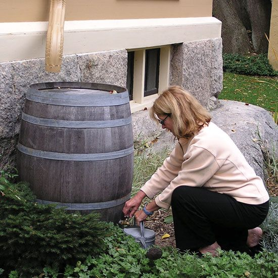 Simple, homemade rain barrels harness one of nature's most basic and valuable resources, reducing water costs and stormwater runoff. Take part in rainwater harvesting by learning how to make a rain barrel.data-pin-do=