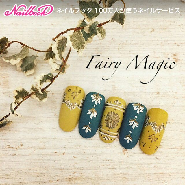 Yellow and blue nails #mananails  #fairy_magic