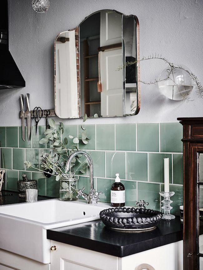 Vintage Badezimmer (mein Mint & Pink Badezimmer)