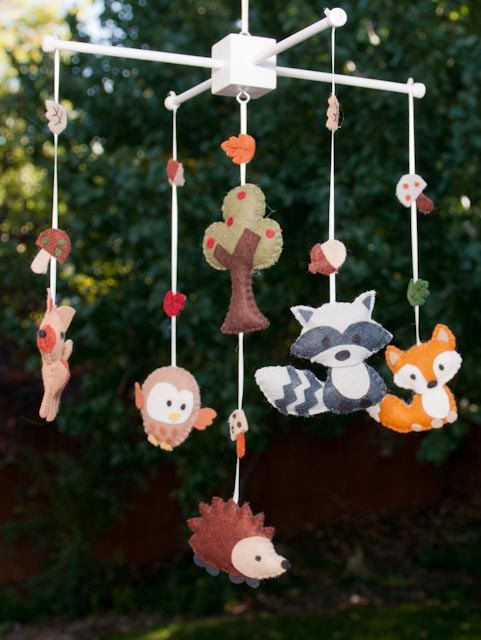 "Baby Mobile - Baby Crib Mobile - Woodland  Mobile - Nursery Baby Room ""Woodland Wonders"" (You can pick your colors), via Etsy."