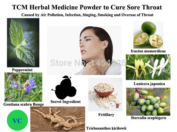 Lek ziołowy Proszek TCM, aby Leczyć Ból Gardła Spowodowane przez Zanieczyszczenia Powietrza, infekcji, śpiew, palenia i Nadużywania Gardła
