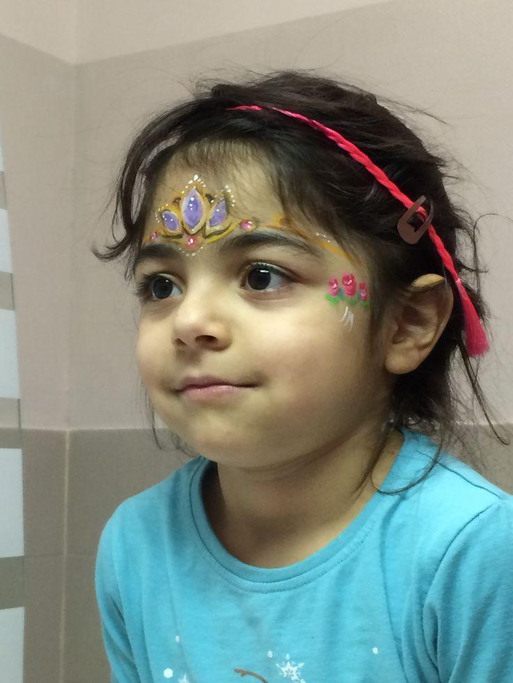 Maquillage enfant lyon par crayon de soleil couronne de princesse face painting by crayon - Modele de maquillage ...
