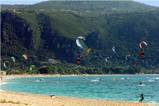 Visit Greece | Outdoor activities KITE SURFING on Lefkada island