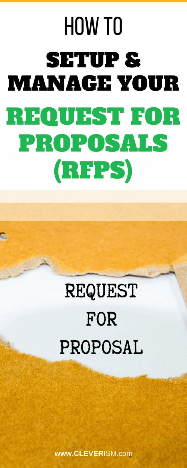 How To Setup And Manage Your Request For Proposals (RFPs) | The Best
