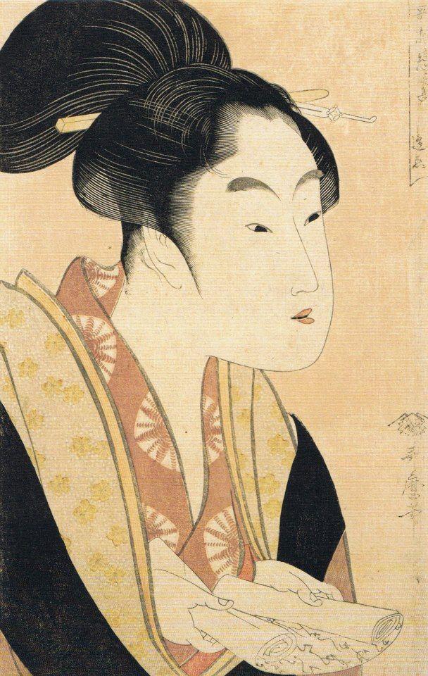 UKIYO - E.....BY UTAMARO......PARTAGE OF ARTIST SALON OF JAPAN.....ON FACEBOOK......