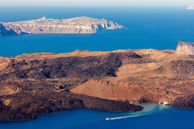 Cruise around Santorini to Nea Kameni volcano and the island of Thirasia in a day! After ogling the Greek island vistas from the water, enjoy free time to explore the volcanic countryside of Nea Kameni, soak in the volcano's hot springs, and then cruise to the gloriously secluded island of Thirasia. Travel with Tourboks!