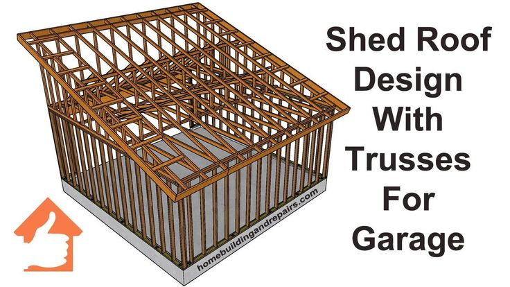 Best Shed Roof Using Engineered Trusses For Two Car Garage 640 x 480