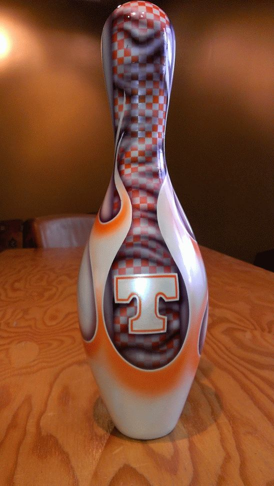 bowling pin custom airbrush - Google Search