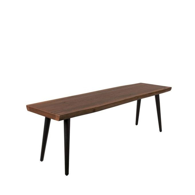 Banc Design En Noyer 140cm Alagon Noir Dutchbone La Redoute En 2020 Banc Design Table A Manger Noyer Noyer Bois