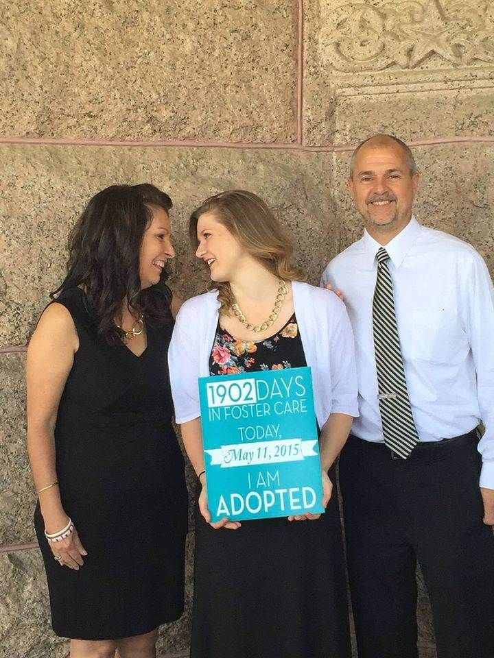 Breanna Shaw and her adoptive family. Photos and facts about adopting from foster care.