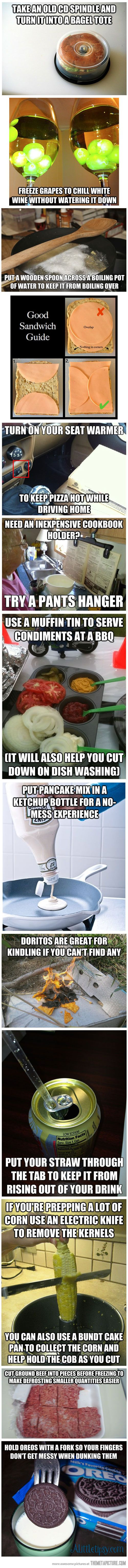 More Life hacks - Food tips that make life easier.