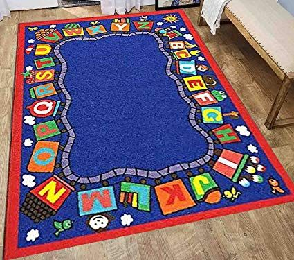 8x10 Kids Boys Children Toddler Playroom Rug Nursery Room Rug