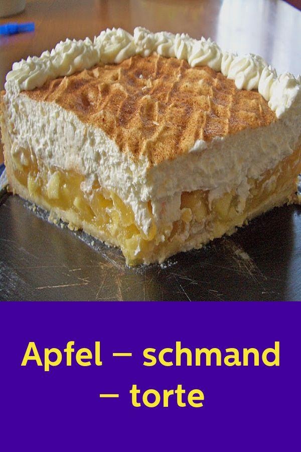 Apfelgeräucherter Kuchen   – Apfelkuchen