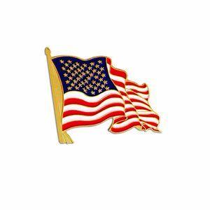 Die struck american flag lapel pin