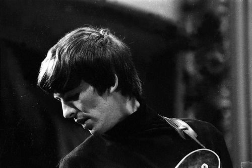 December 17,1963 George during the taping of the BBC radio show Saturday Club (Christmas show) at the Playhouse Theatre, London. This image is just so gorgeous!! Definitely one of my favorites now of George!!