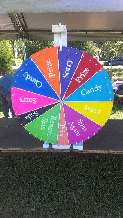 DIY spin wheel game. with hubby help!