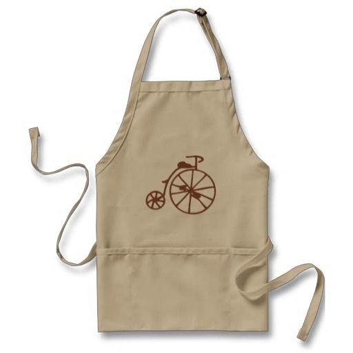 Retro Bike Standard Apron #Bike #Bicycle #Retro #Vintage #Apron