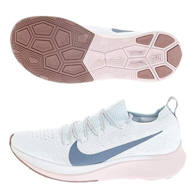 78f91ba18b40 Nike Zoom Fly Flyknit Women s Running Shoe Glacier Blue Celestial  Teal-Coastal Blue 8.5