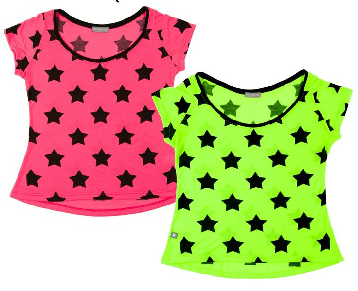 Short-Sleeve Star t-shirts in fluo colours. #MiniSize #WomanCollection #SS14 #Spring #Summer