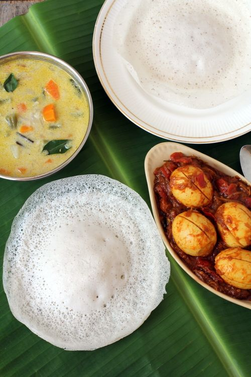 Appam recipe is made with rice and fresh coconut with or without yeast.Its popular among Kerala breakfast recipes that are healthy, simple and easy to make.