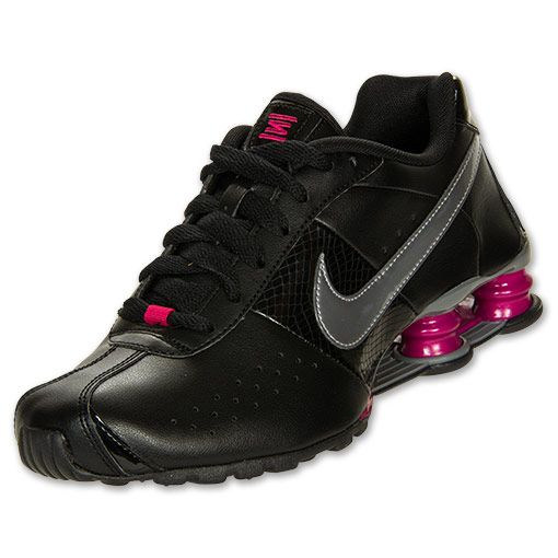 Women's Nike Shox Classic 2 Running Shoes | FinishLine.com | Black/Metallic/Cool Grey/Sport Fuchsia