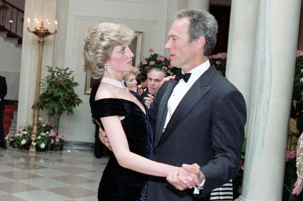 Diana dances with Clint Eastwood at The White House