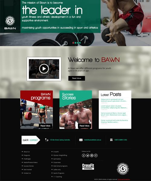 Explore the website - Crossfit Bawn designed & developed by Accenza... The website is all about health & fitness....