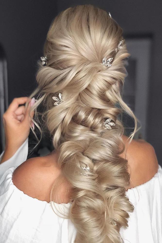 39 Adorable Braided Wedding Hair Ideas Wedding Forward Braided Hairstyles For Wedding Braids For Long Hair Long Hair Styles