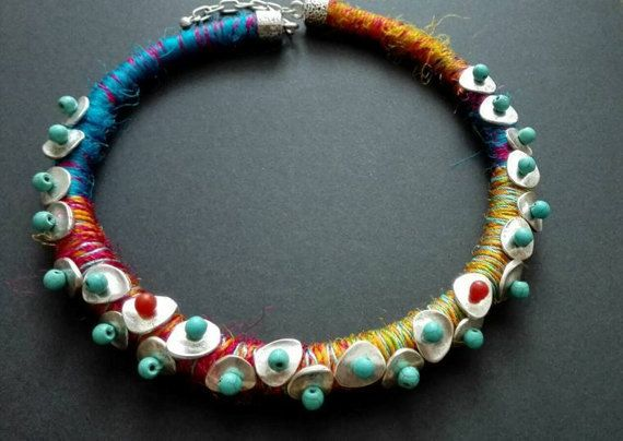 Hey, I found this really awesome Etsy listing at https://www.etsy.com/listing/496427928/african-ethnic-necklace-silk-necklace