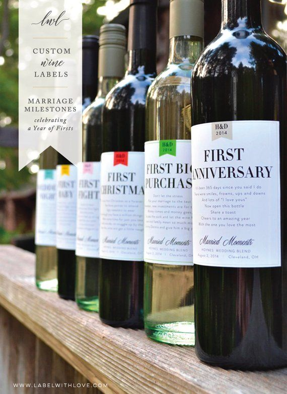 Milestones Wine Labels – Wedding Gift First Anniversary Bridal Shower Gift Wine Basket Engagement Gift Married Moments – Dieds Bachelorettes