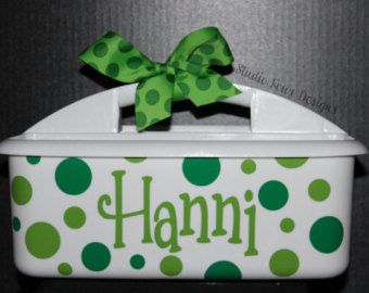 Items similar to Monogrammed Shower Caddy {LARGE} - Must-Haves for Camp, Dorm Room & Sorority House - Most Popular Graduation Gift - Assorted Colors/Designs on Etsy