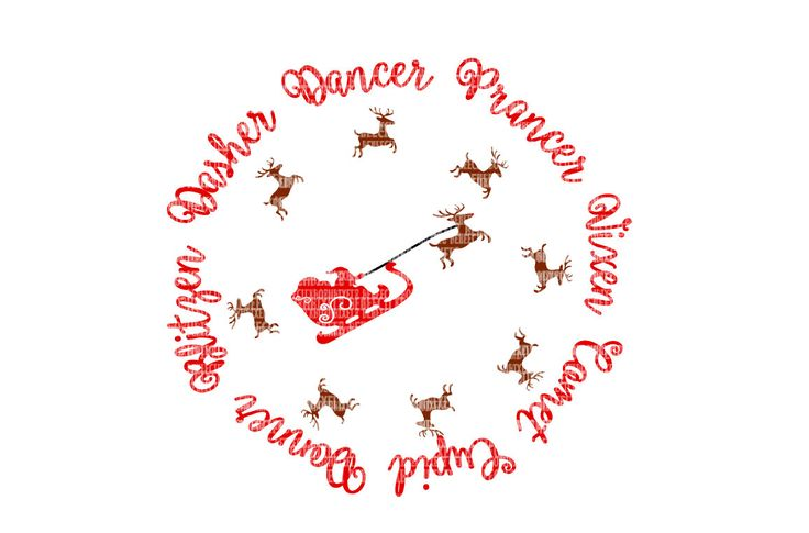 Santa Reindeer Christmas SVG Files for Silhouette Studio and Cricut Design Space Iron On Decals Heat Transfer Scrapbooking Templates NOTHING WILL BE MAILED TO YOU. THIS IS A DIGITAL LISTING ONLY. Upon receipt of payment, a download link will automatically be sent to the email address