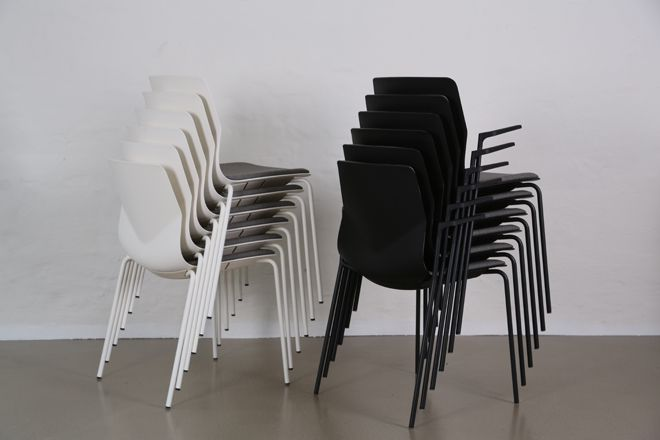 Four®Sure 44 - By Four Design - Four®Sure 44 is available in 8 attractive colors. The chair is delivered with Teflon glides to avoid noise when the chair moves across the floor.