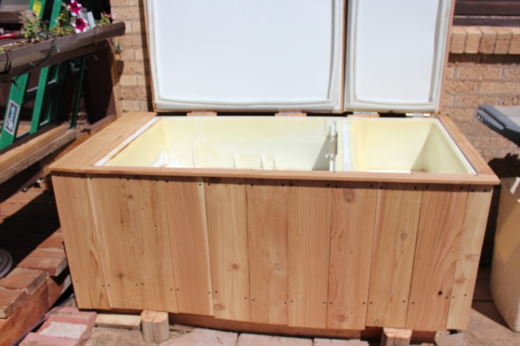 Recycle Old Refrigerator Into An Ice Chest Outdoors