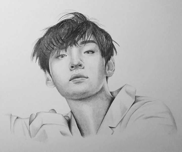 A portrait of BTS' band member Taehyung requested from a follower on Instagram (Created using graphite pencils)