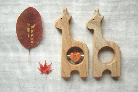 Hey, I found this really awesome Etsy listing at https://www.etsy.com/listing/224695029/wooden-rattle-giraffe-baby-teether