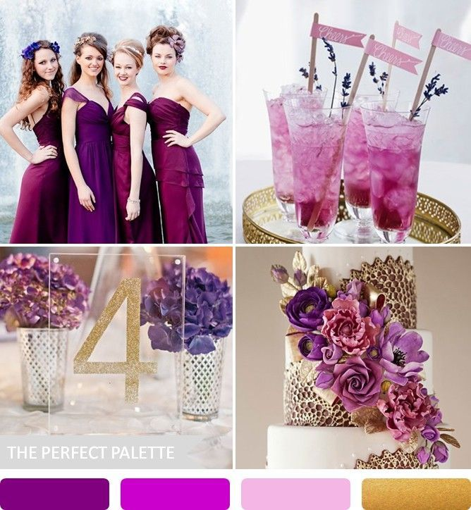 Purple + Antique gold The Perfect Palette: 10 Wedding Color Palettes That Aren't Boring!