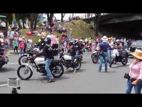 Stunt, Wheeles, Motos desfile feria de las flores 2014