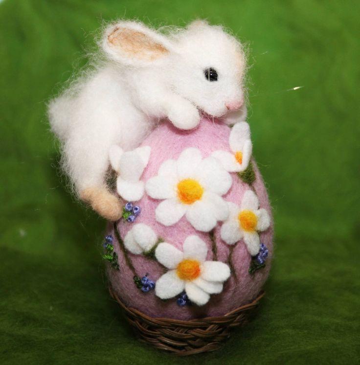 постоянные валяние игрушки пасхальный кролик фото хорошо смотрятся