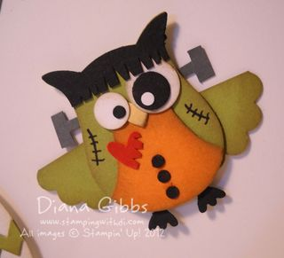 Frankenstein from Stampin Up owl punch