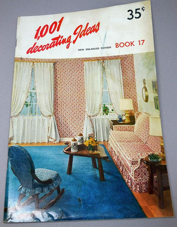 1,001 Decorating Ideas   Book 17   1960 Vintage Decorating Ideas   Home  Decor, Interior Design, Windows, Upholstery, Slip Covers Mid Mod MCM