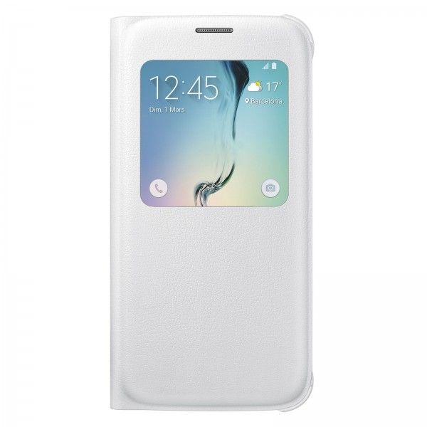 Etui S-View Cover Blanc pour Galaxy S6 - Vente et achat en ligne des tablettes smartphones téléphones et accessoires au Maroc.
